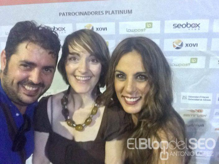 Alicia Senovilla, Elia Guardiola y Antonio López