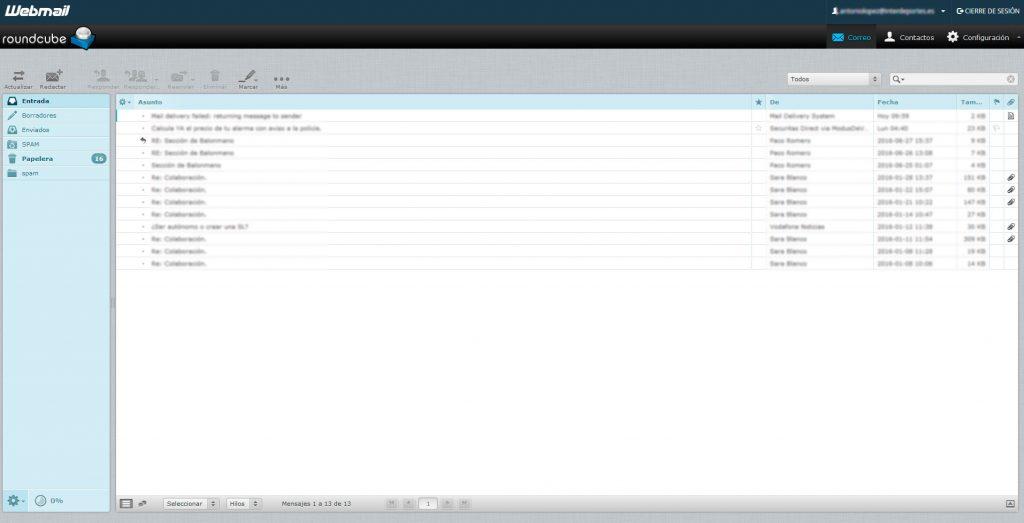 aspecto webmail